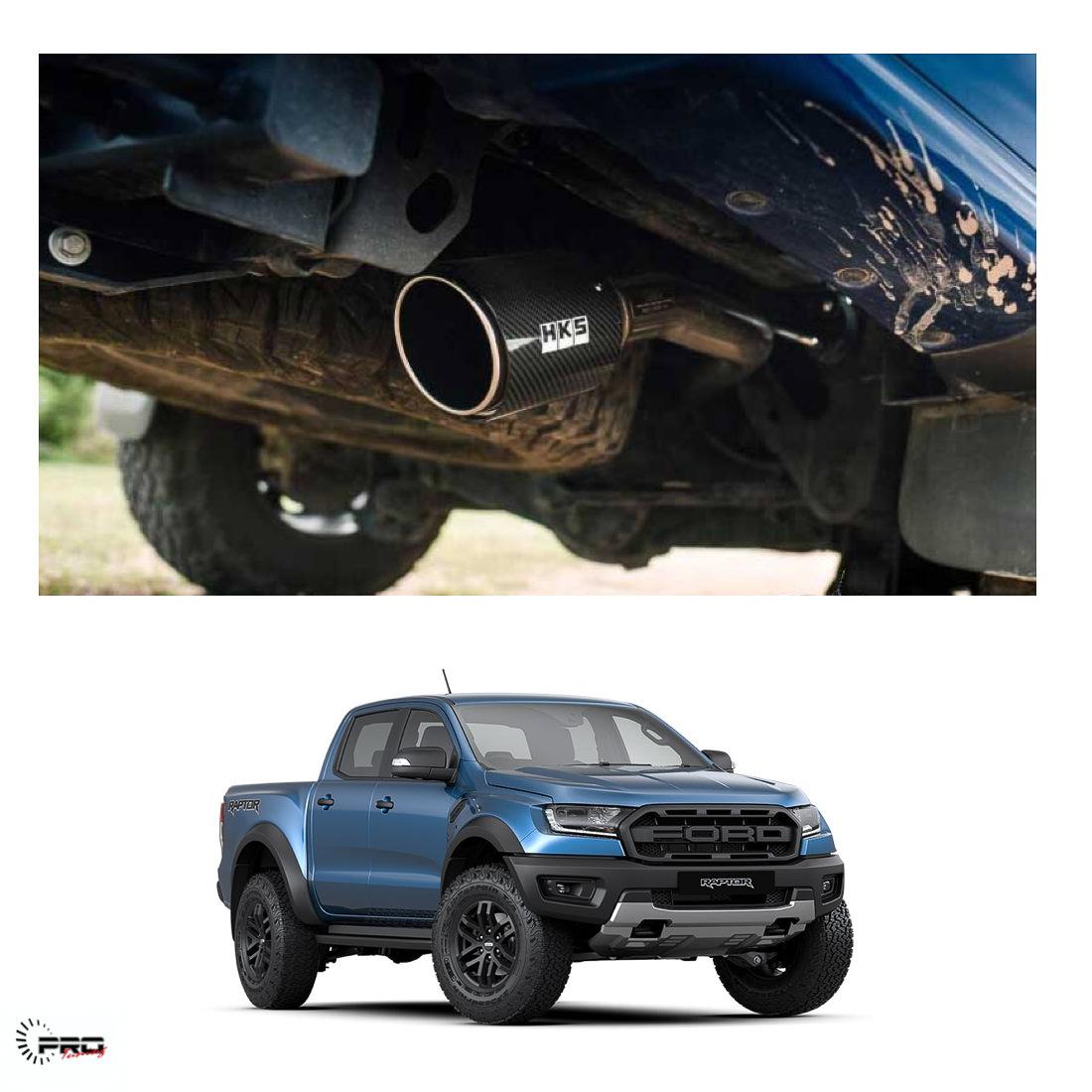 ford ranger raptor hks exhaust line