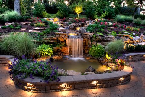 patio garden ideas water