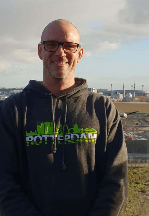 "Henri Maas met Rotterdam hoodie ""Rotterdam Skyline"""