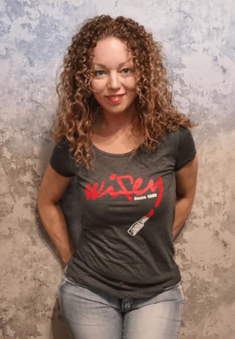 Angelique met Feyenoord T-shirt WiFey