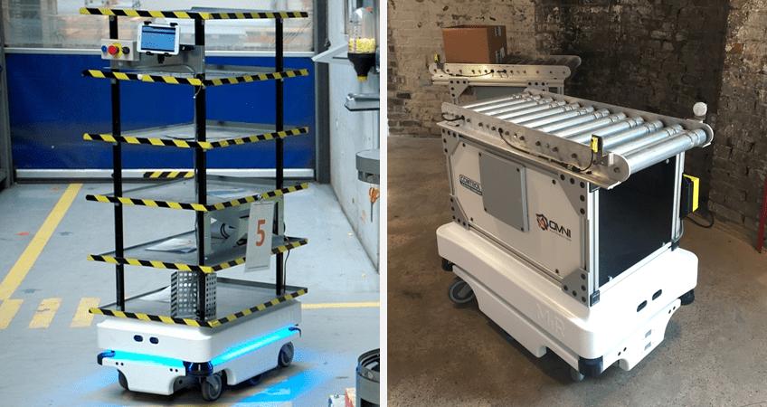 MiR mobile autonomous robots