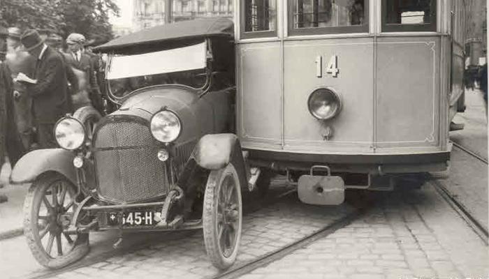 tramkollision autounfall zürich vergangenheit bilder historisch