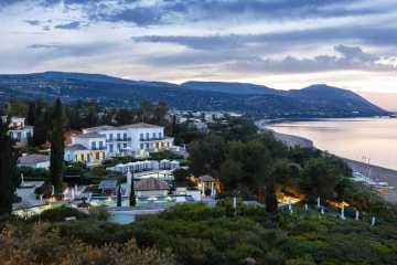 Blick auf das luxuriöse Anassa Resort