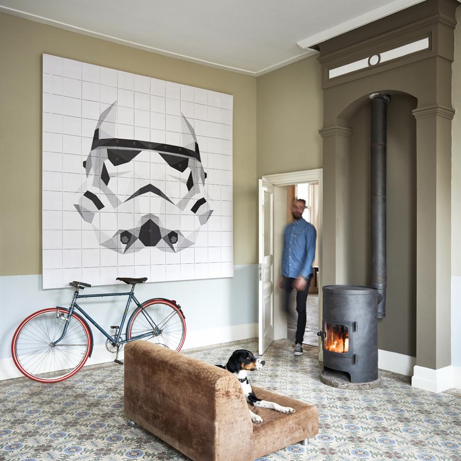 Wohnzimmer Wand Kamin Starwars IXXI