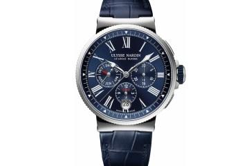 ulysse nardin marine chronograph annual calendar uhr uhren luxusuhren schweiz