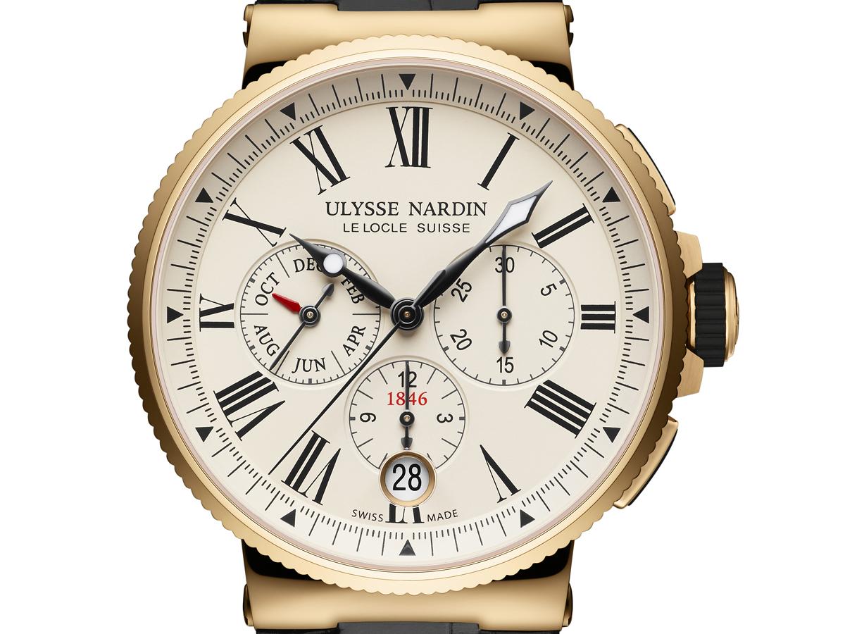 ulysse nardin marine chronograph annual calendar uhr uhren chronographen schweiz