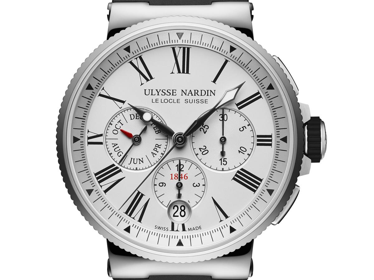 ulysse nardin marine chronograph annual calendar uhr uhren luxusuhren schweizer