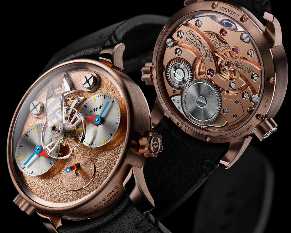 mb&f luxusuhren luxusuhr kollektionen kollektion gold titan rotgold schweiz