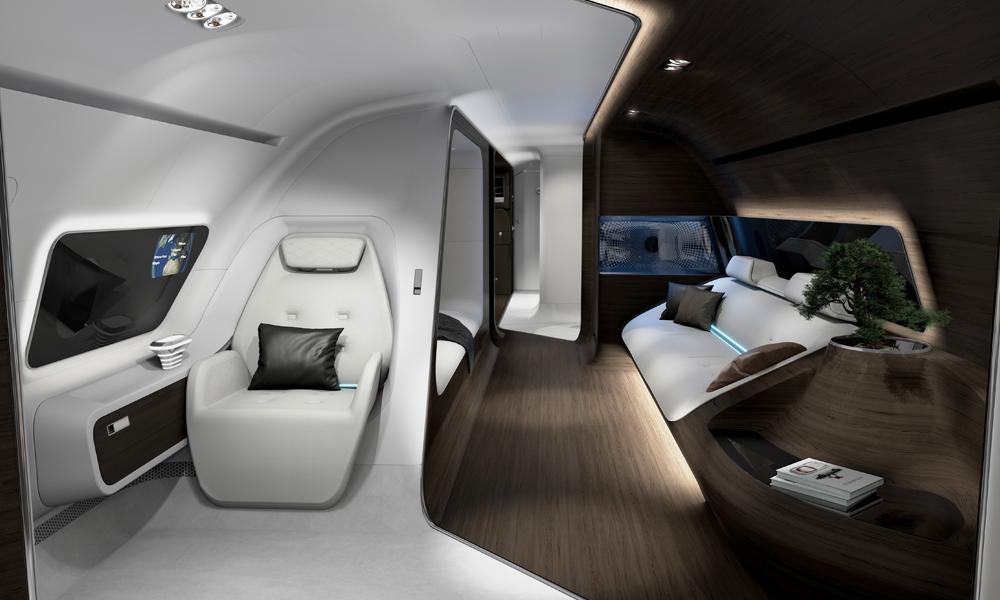 lufthansa flugzeug jet privatjet luxus kabine inneneinrichtung design
