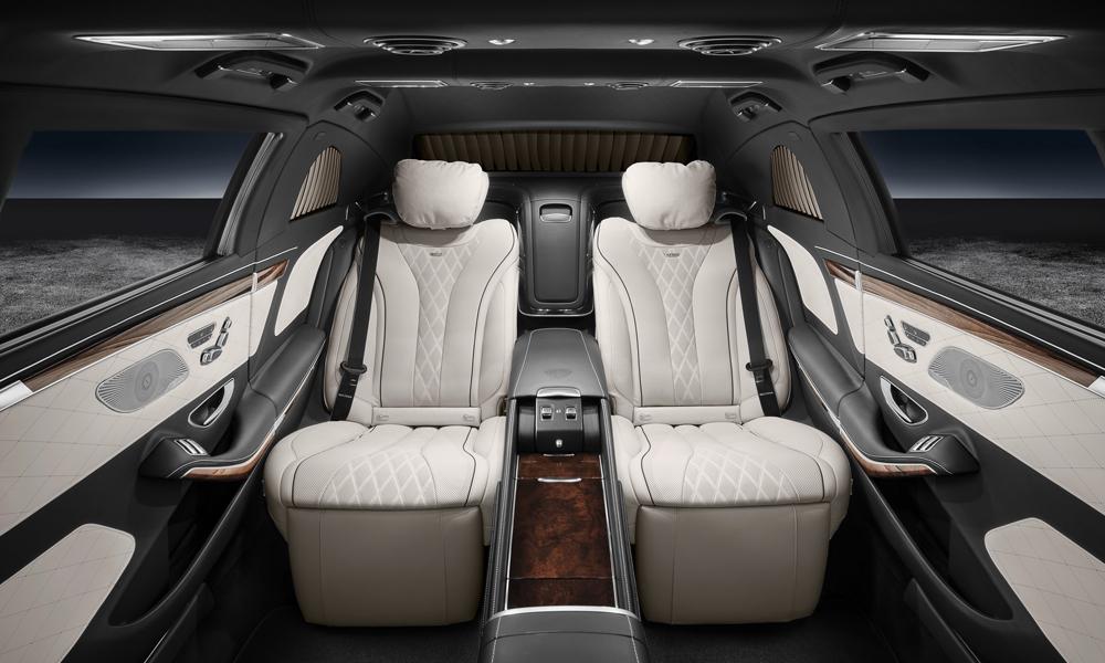 mercedes-benz maybach limousine limousinen panzerlimousine gepanzerte-limousine ausstattung s 600 pullman guard innenraum bombenschutz