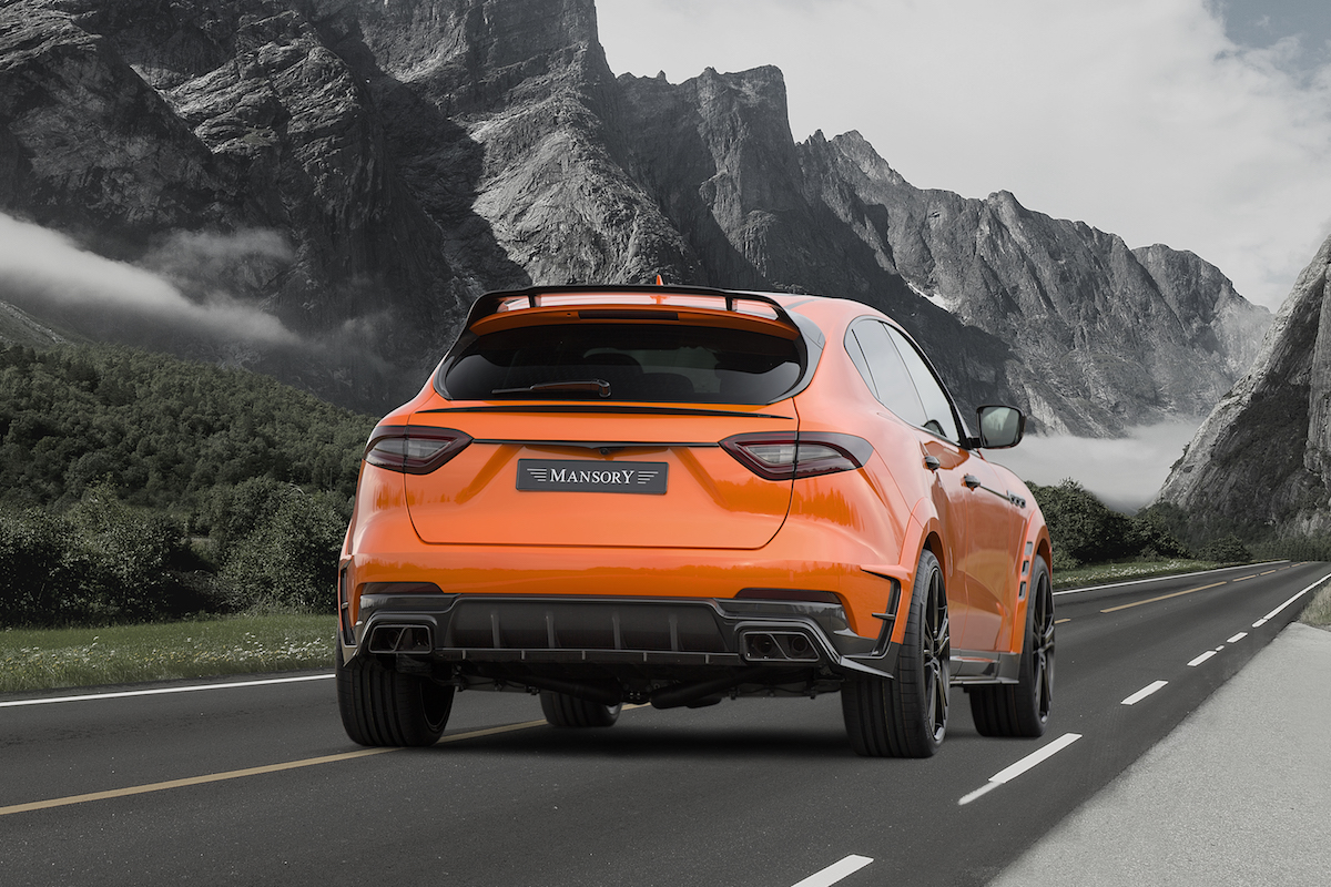 mansory maserati levante suv luxus veredelung carbon motor interieur carbon