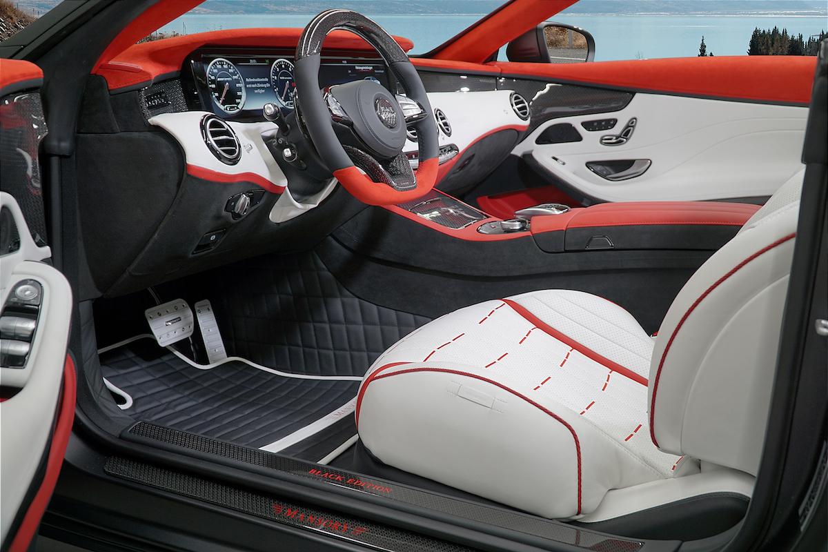 mansory mercedes-benz-s63-amg cabriolet tuning veredelung interior kohlefaser interieur