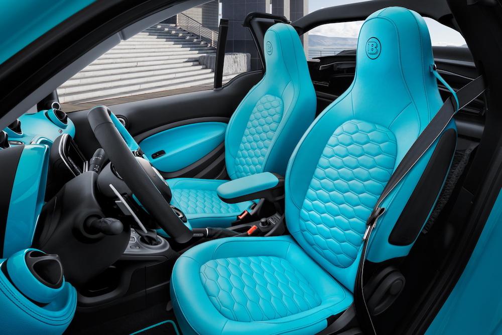 brabus ultimate 125 sportwagen smart fortwo cabrio cabriolet interieur