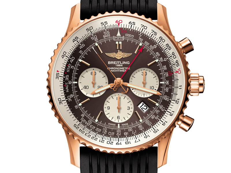 breitling navitimer chronograph red gold limited edition