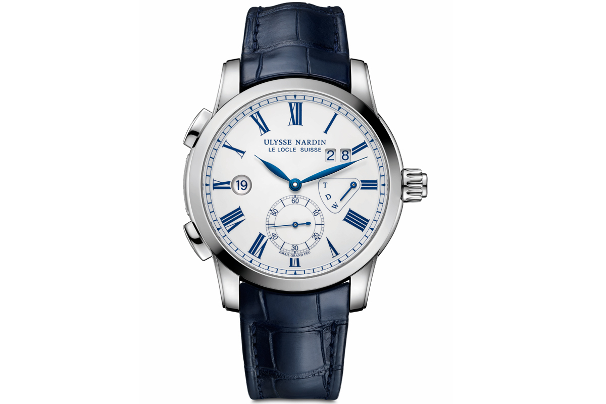 ulysse nardin dual time enamel swiss watch watchmaker collection