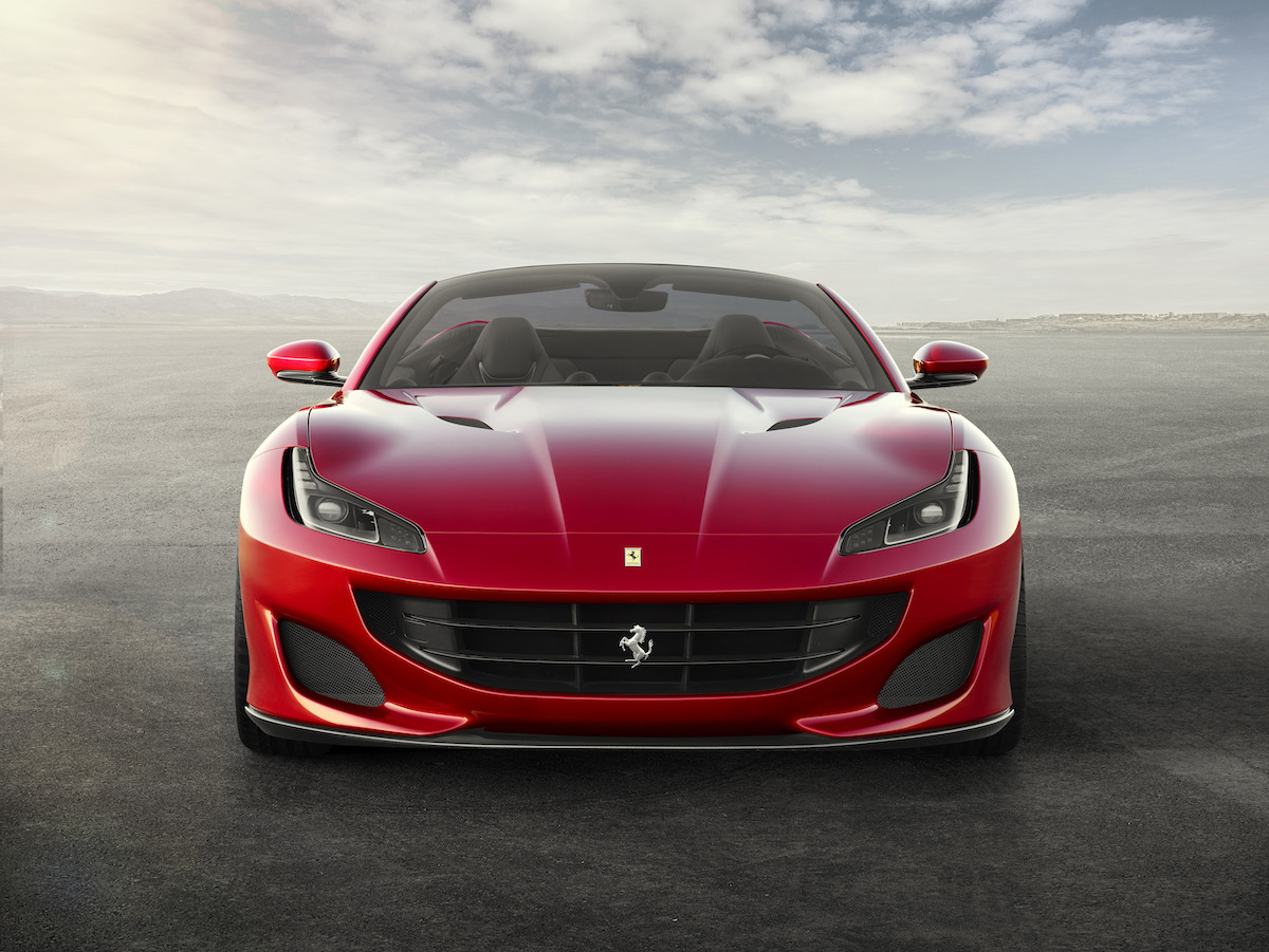 ferrari portofino new car convertible 8-cylinder most powerful hard top chassis
