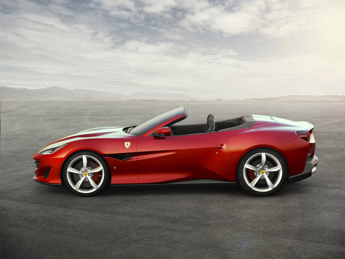 ferrari portofino new car convertible 8-cylinder most powerful hard top infotainment system