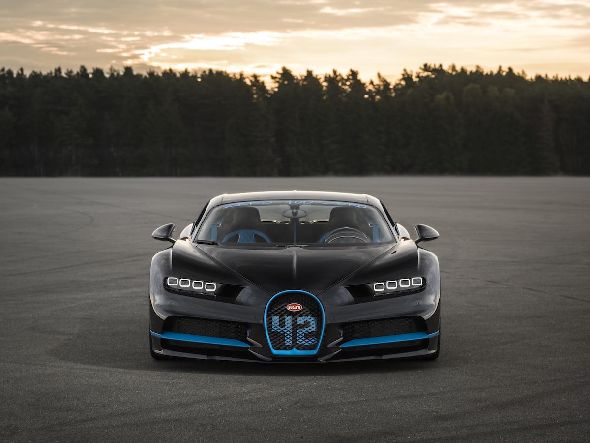 bugatti chiron rekord geschwindigkeitsrekord speedrekord weltrekord geschwindigkeit fahrzeug sportwagen internationale automobil-ausstellung iaa