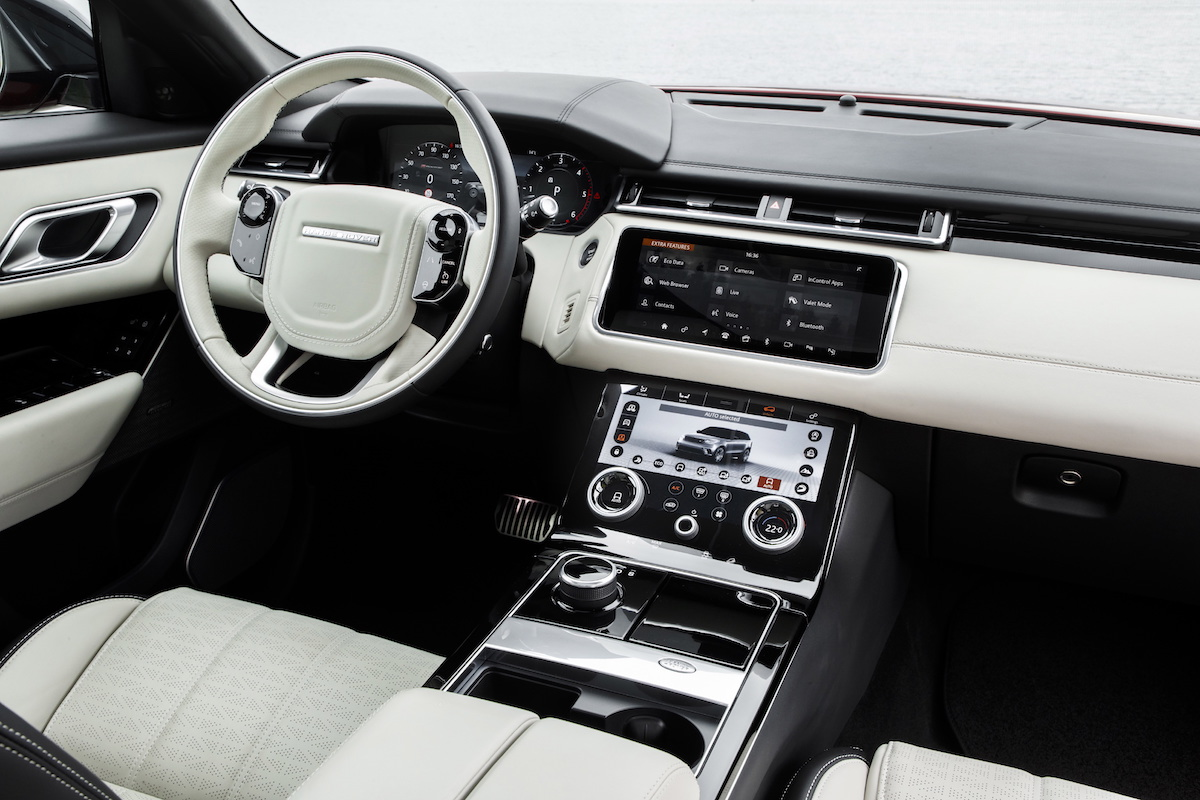range rover velar new models innovation luxury premium suv sports utility vehicle interior cockpit
