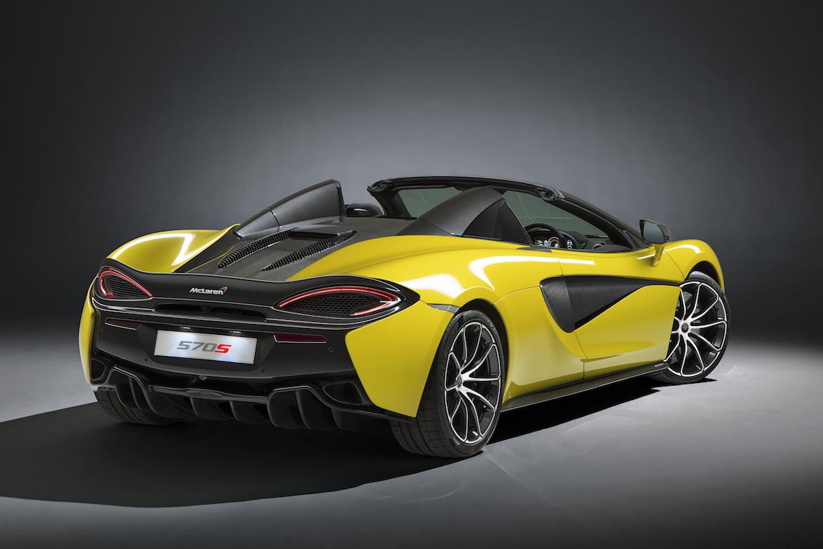 mclaren 570s spider sportwagen supersportwagen modelle modellversionen cabriolet coupe sondermodelle