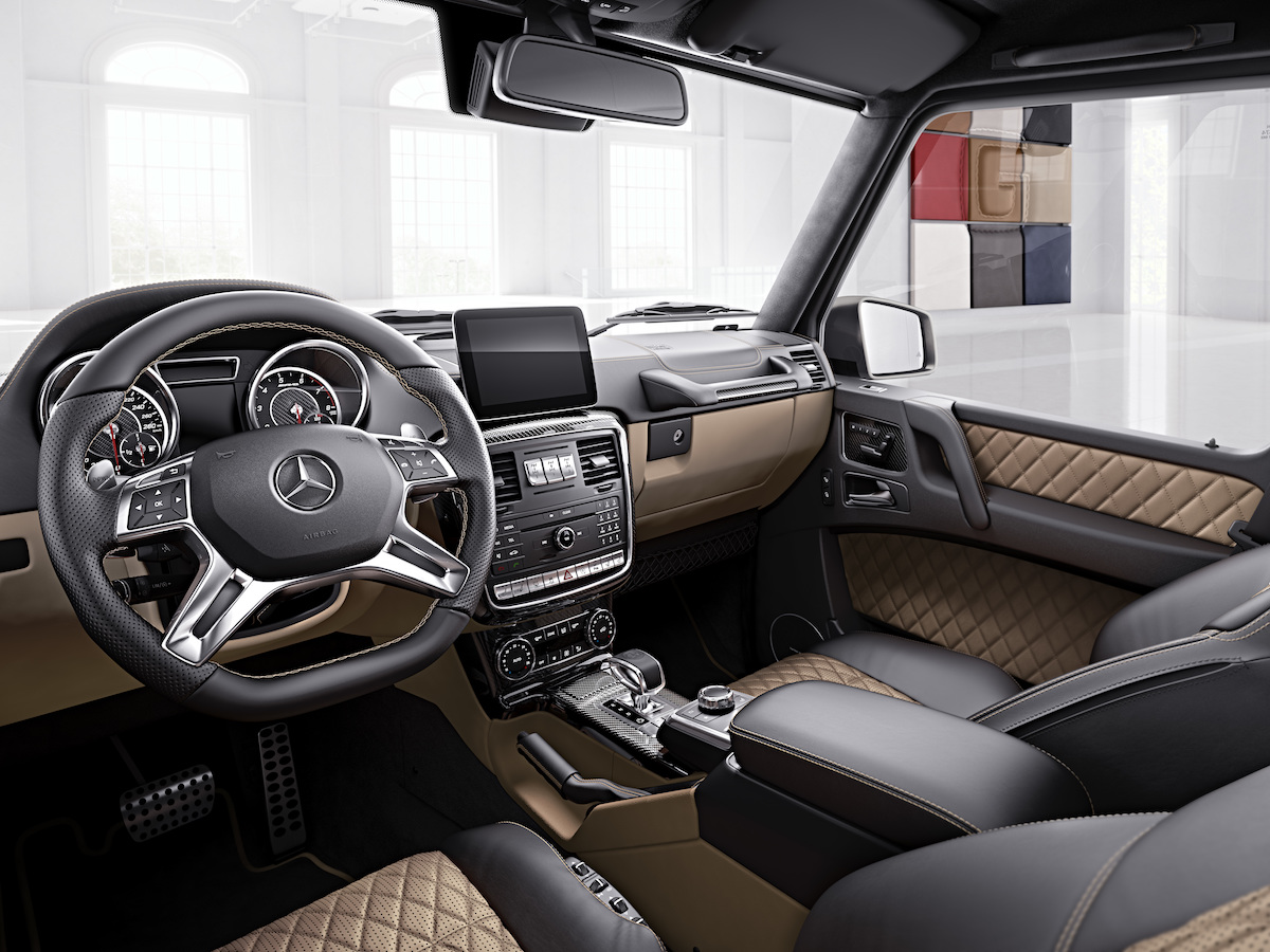 mercedes-amg mercedes amg g63 g65 exclusive models carbon-fibre look interior cabin