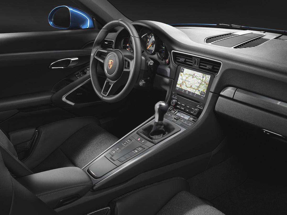 porsche 911 gt3 modelle ohne heckflügel heckspoiler ausstattungsvarianten innenausstattung serienausstattung cockpit innenraum