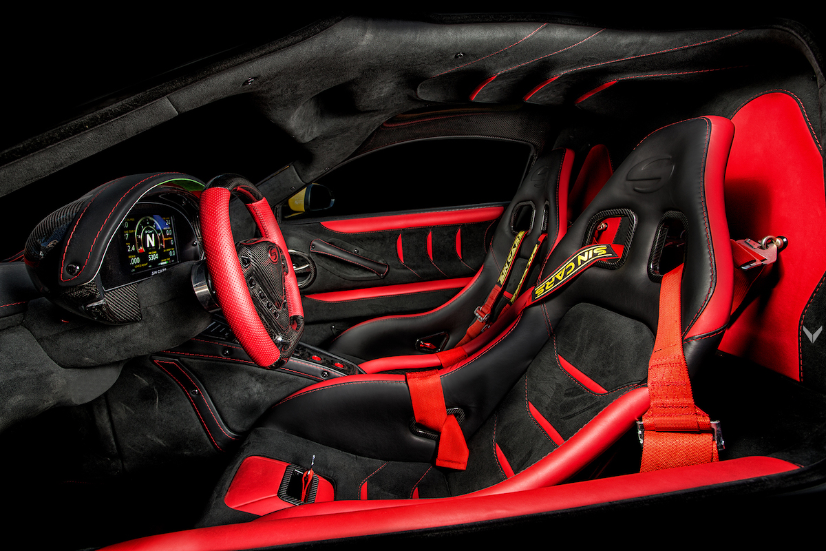 sin-cars sin-r1 super sports car models exotic cars manufacturers carbon interior
