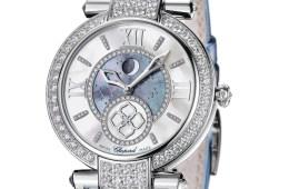 chopard schweiz schweizer luxusuhren damen frauen manufaktur hersteller unternehmen luxus-uhren weissgold armband alligatorleder