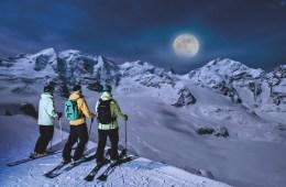 nachtskifahren skifahren nacht vollmond oberengadin wintersport winterferien 2018 schweiz