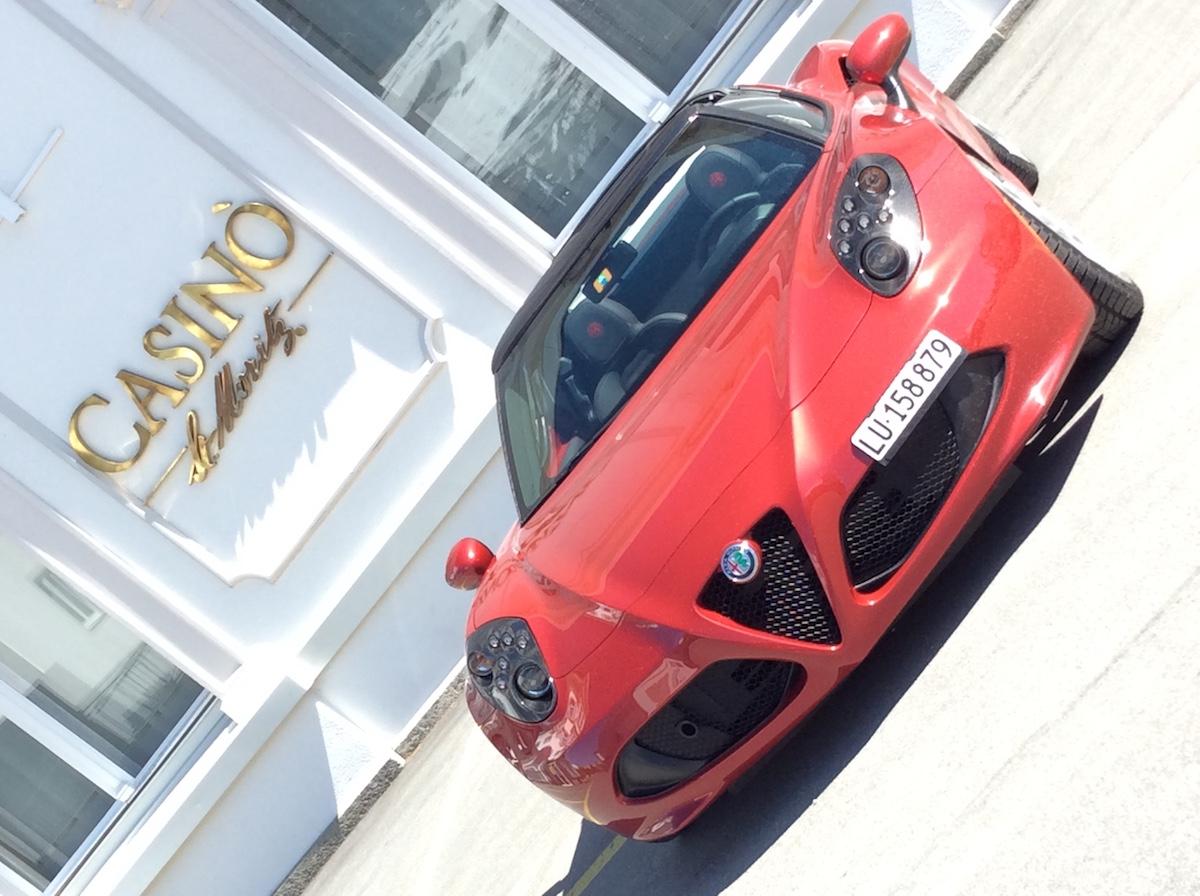alfa romeo 4c spider testbericht fahrbericht schweiz sportwagen modelle motoren ausstattung cabrio cabriolet online magazin automobil casino oberengadin