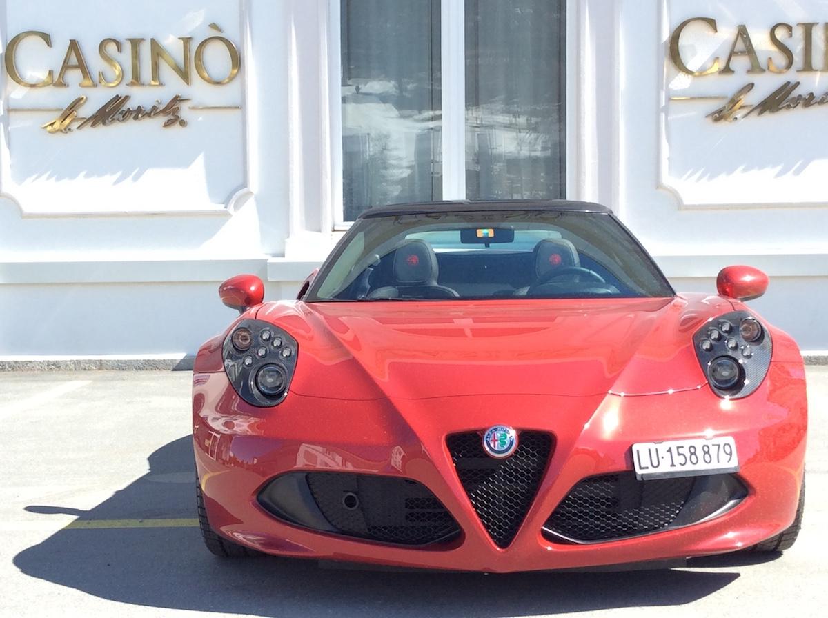 alfa romeo 4c spider testbericht fahrbericht schweiz sportwagen modelle motoren ausstattung cabrio cabriolet online magazin automobil casino stmoritz