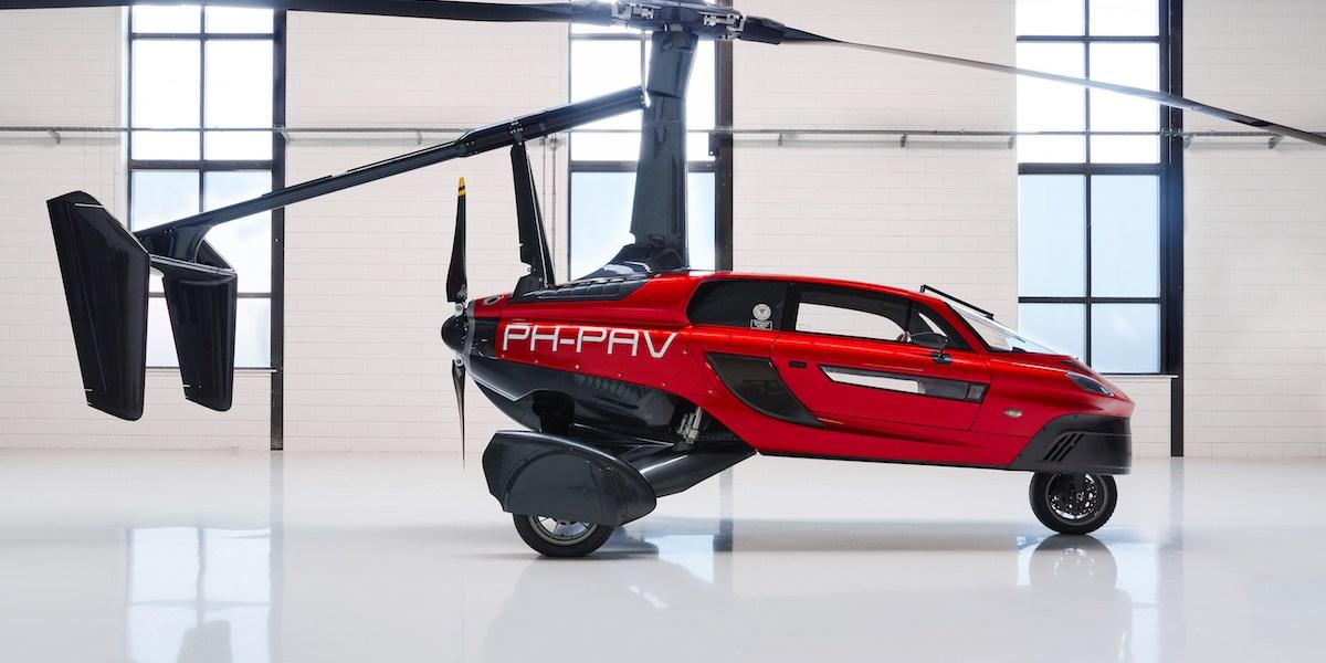 pal-v liberty flying car airshow united kingdom 2018 manufacturers