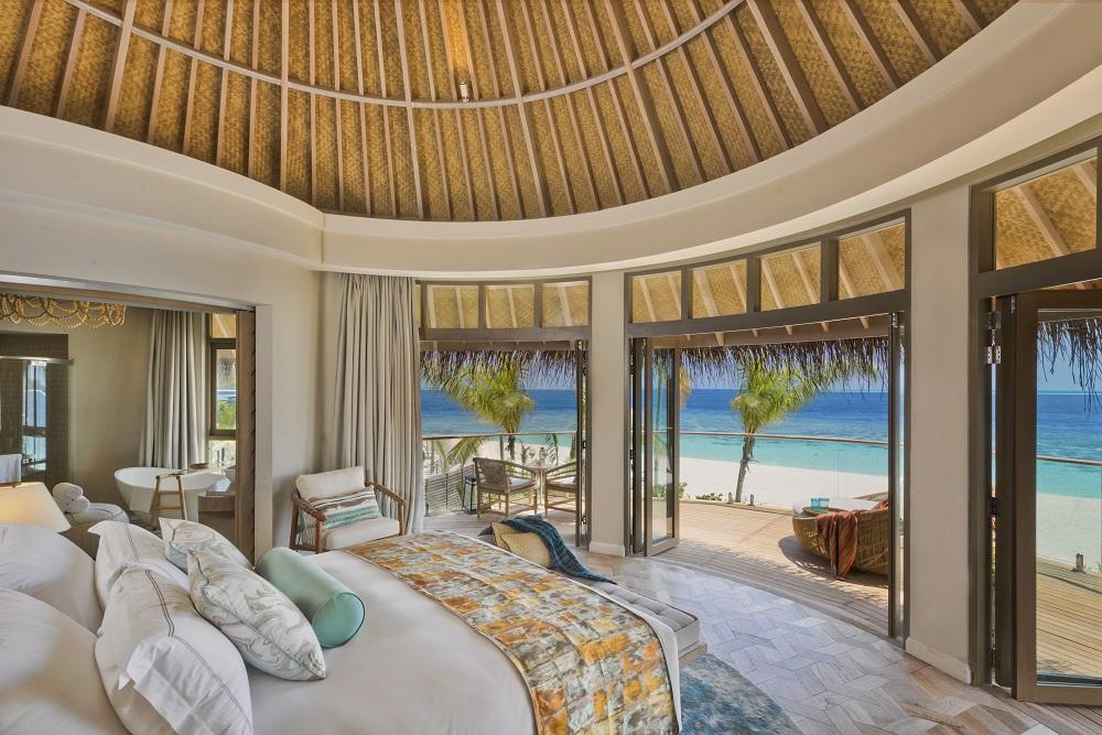 schlafzimmer Malediven Blick