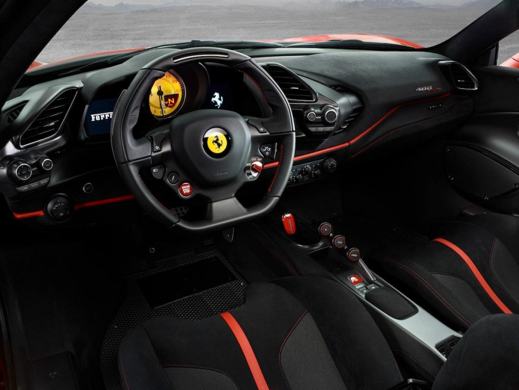 ferrari 488 gtb pista v8 engine turbo biturbo sports cars models new 2019 interior