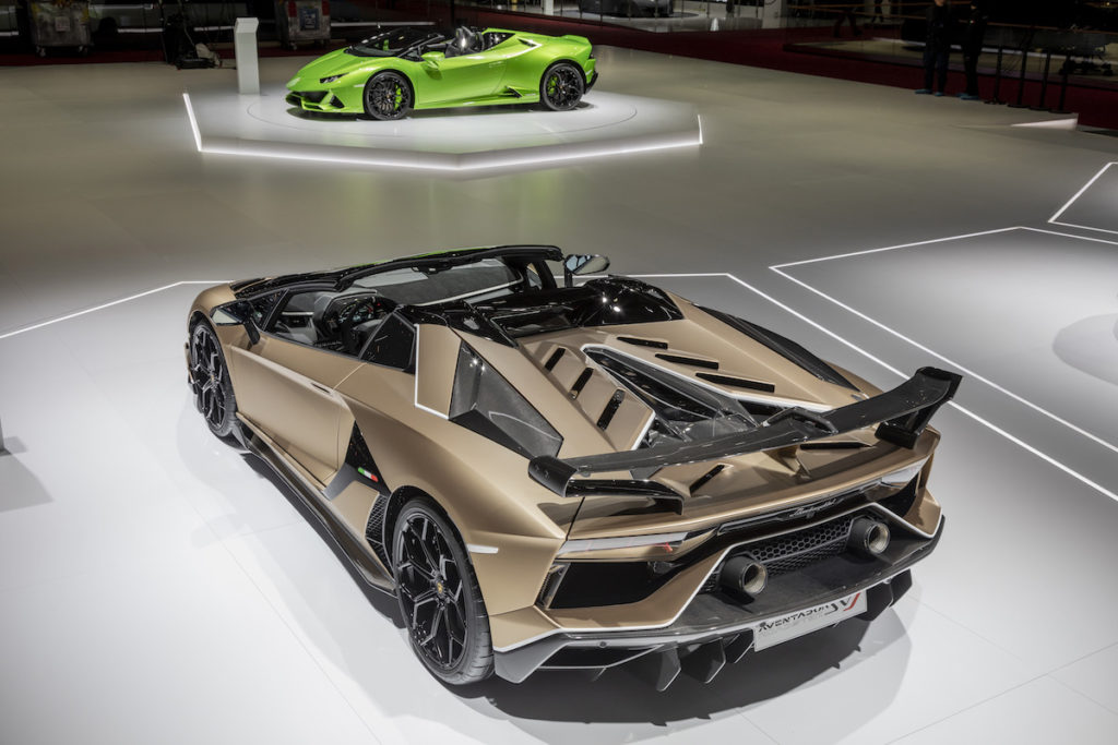 lamborghini aventador svj roadster new model models convertible open top geneva motor show 2019 highlights limited special-edition