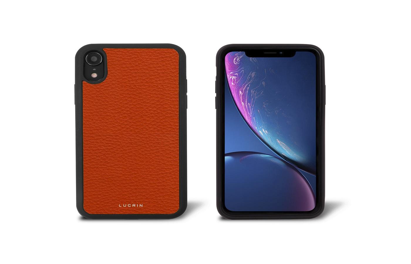 handyhülle lederaccessoire iPhone orange
