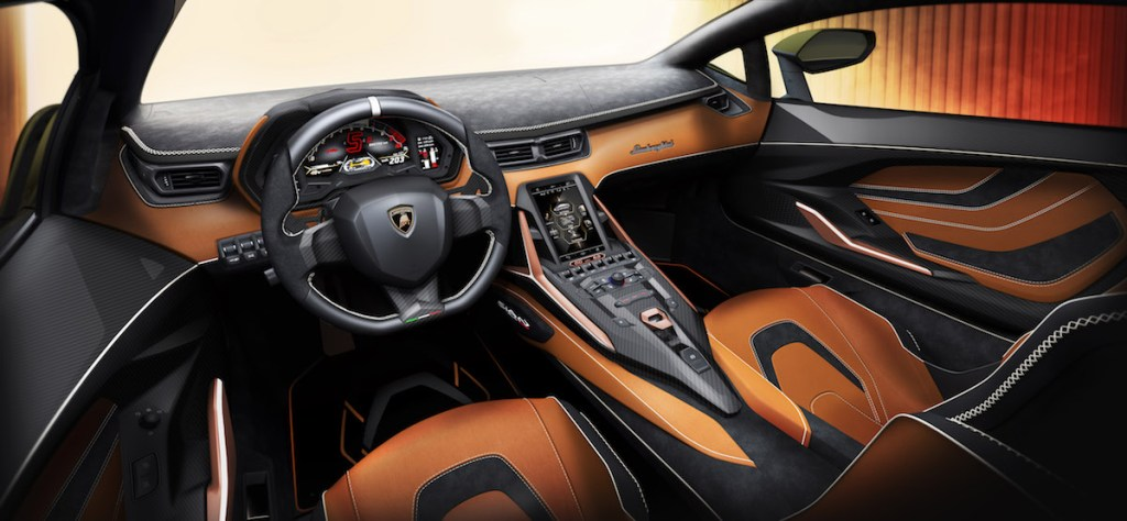 lamborghini sian limited edition unique sports car new v12 hybrid motor show iaa frankfurt 2019 interior