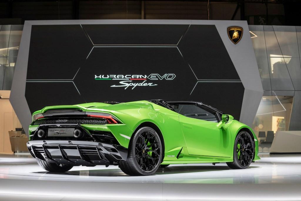 lamborghini-huracan-evo-spyder lamborghini huracan evo spyder modelle neuheiten cabrio cabriolet autosalon automobilsalon genf 2019 neuheit