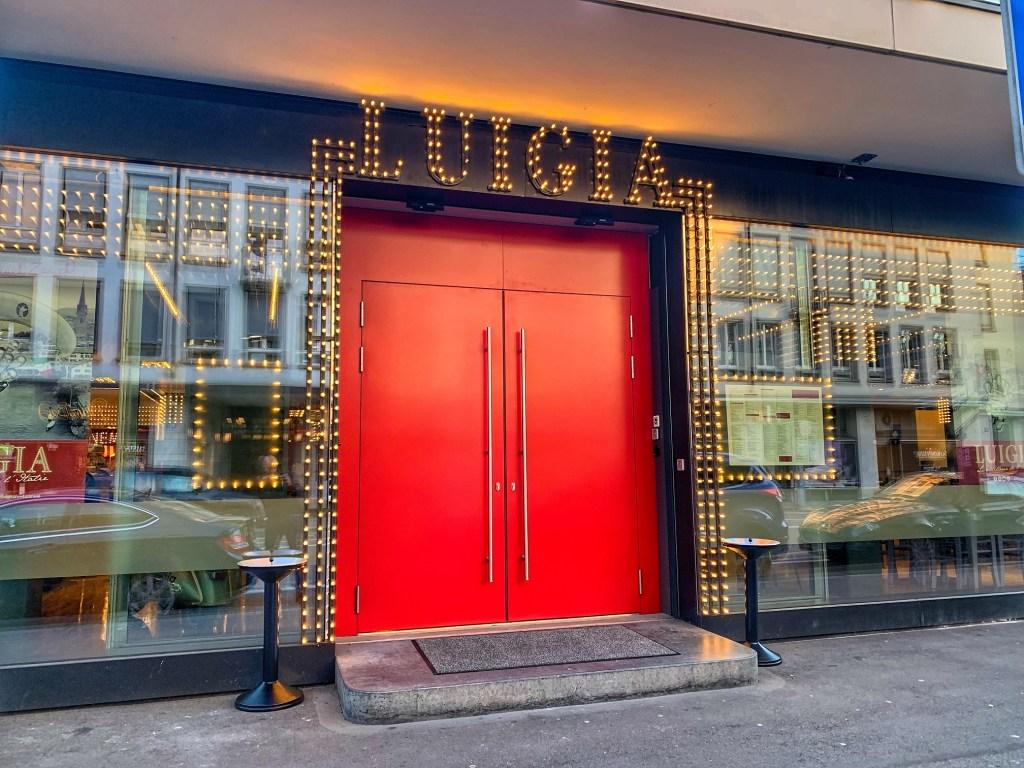 Eingang Luigia Restaurant