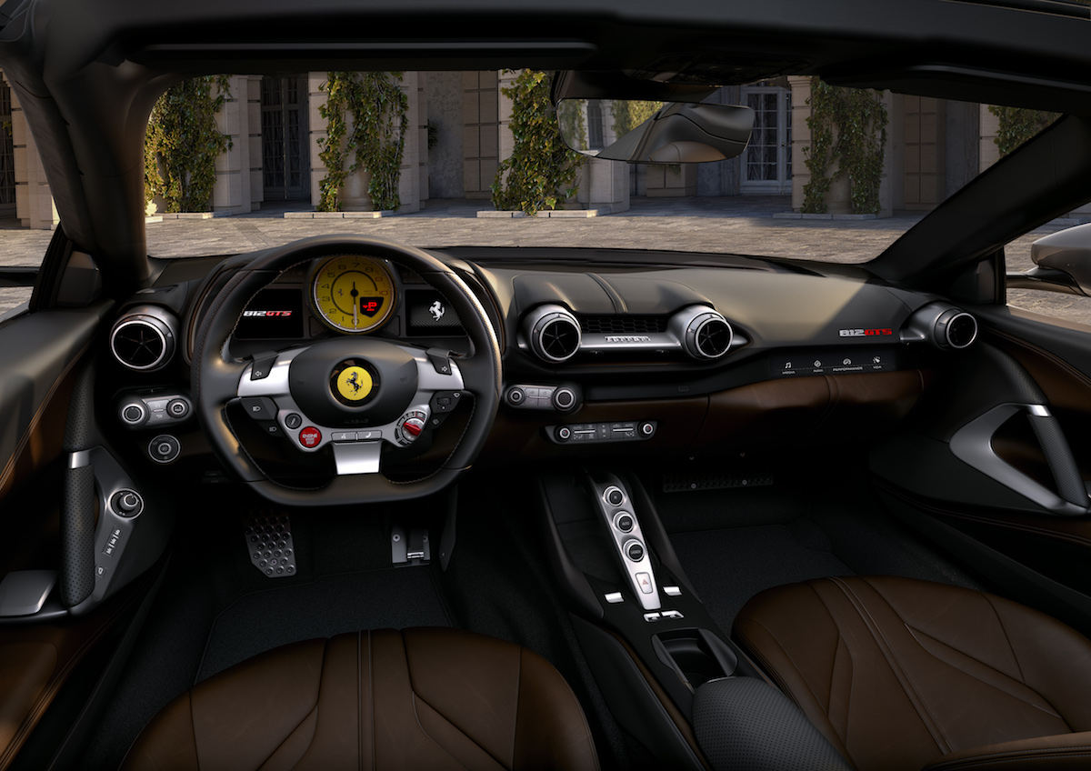 ferrari 812 gts superfast spider interior