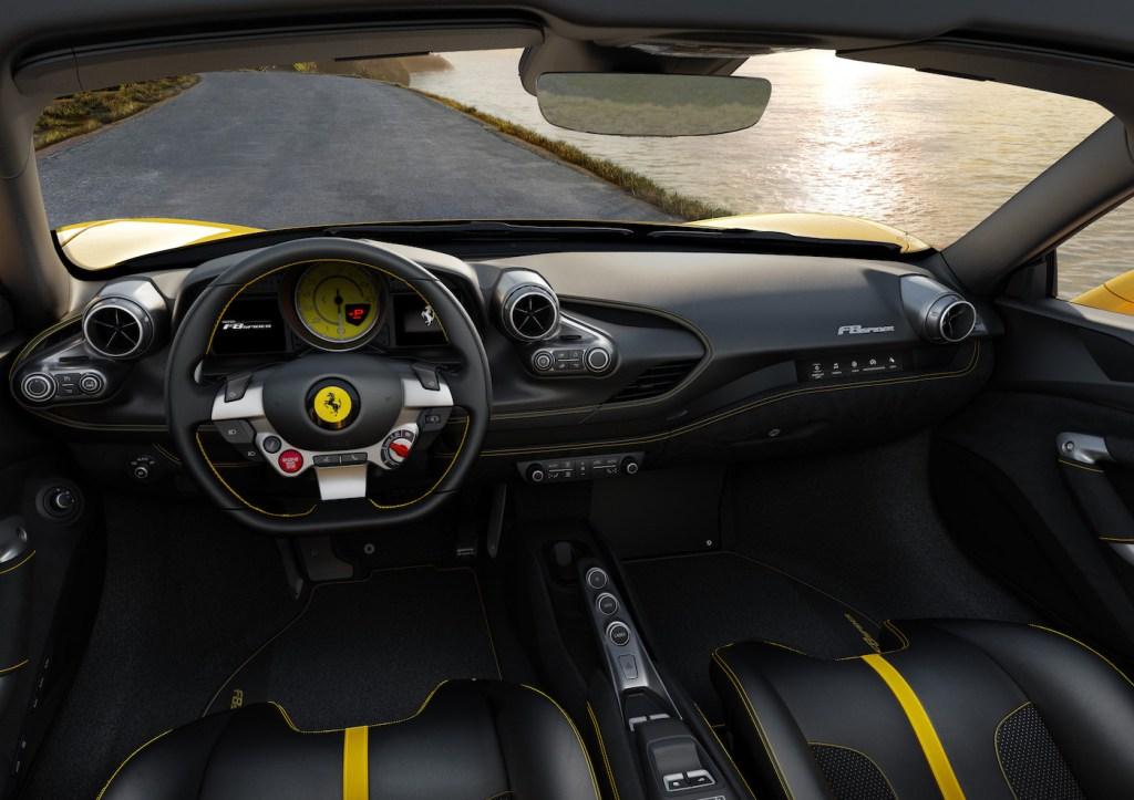 ferrari f8 spider tributo convertible sports car new model models 2019 interior