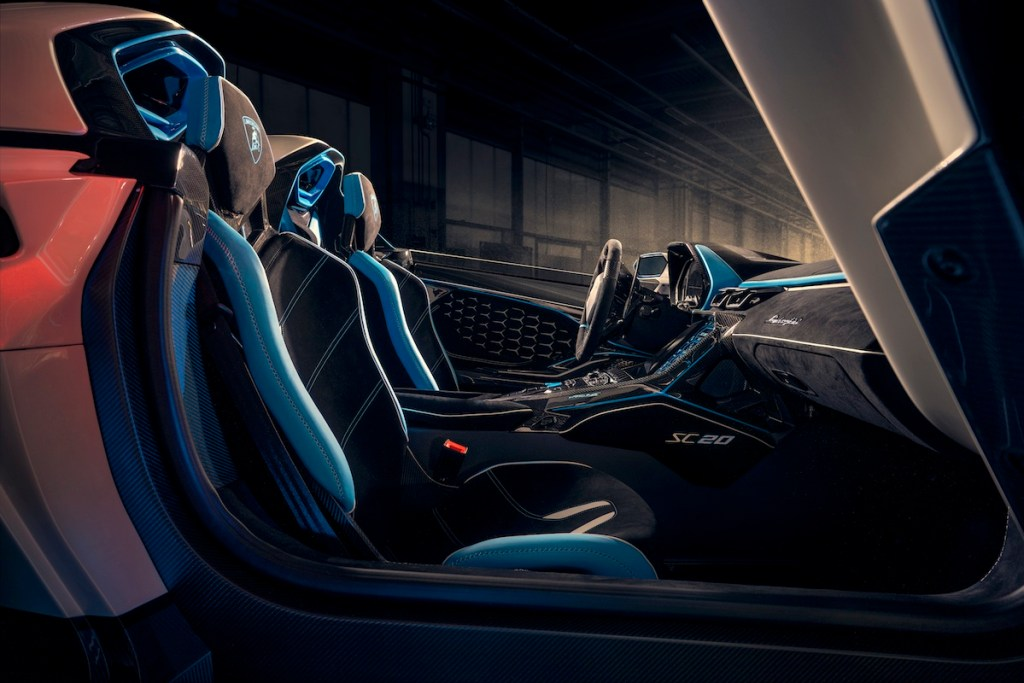 lamborghini sc20 supersportwagen modelle neu limitiert cockpit