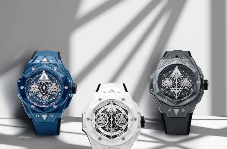 hublot big bang sang bleu limited edition ceramic watches
