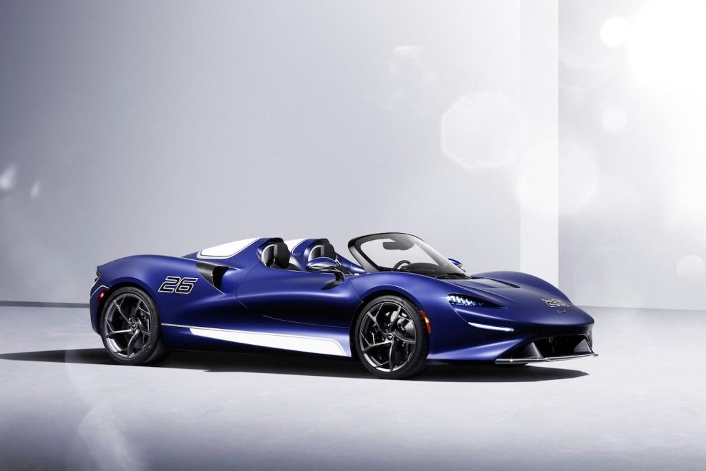 mclaren elva roadster screenless windshield limited edition 2021 models interior