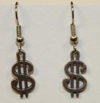 ProudProducers.com | Dollar Sign Earrings