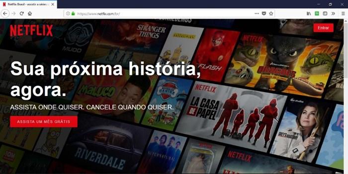 Como criar uma conta na Netflix com 30 dias grátis
