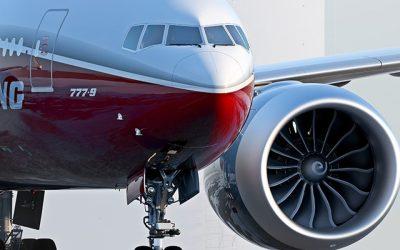 Turbina GE9X, que vai equipar os Boeing 777x, faz primeiro voo teste