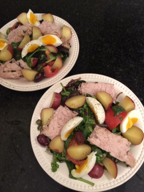 nicoise salad with tarragon vinaigrette