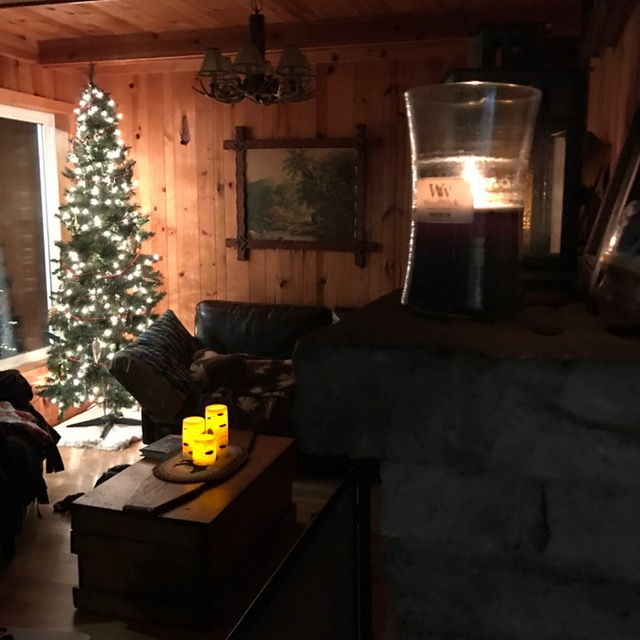 Cozy Hygge lighting in a home