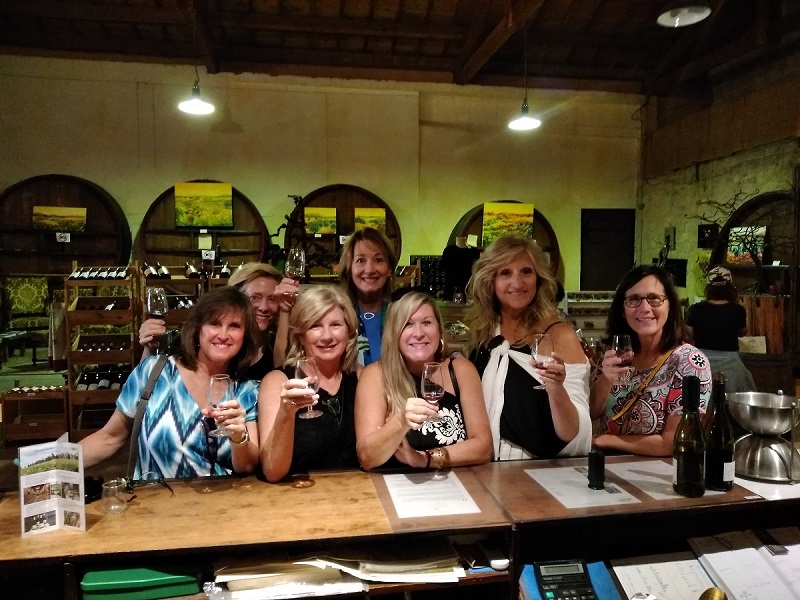 Chateauneuf du Pape women group wine tasting 1
